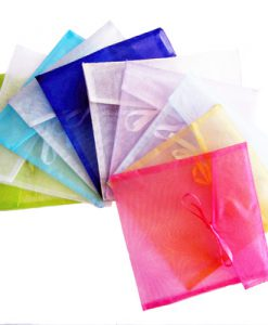 Organza envelop vierkant mix