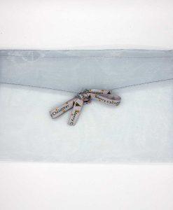 Kerst cadeaubon envelop - zilver - rechthoekig