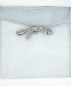 kerst cadeaubon envelop zilver vierkant