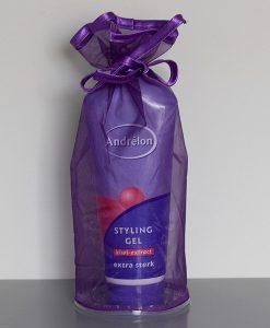Organza flacon verpakking paars